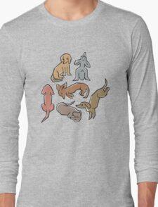 Posing Pups Long Sleeve T-Shirt