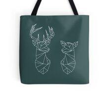 Geometric Stag and Doe Tote Bag