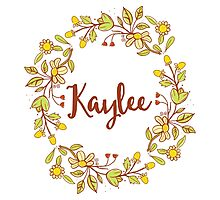 Kaylee lovely name and floral bouquet wreath Photographic Print
