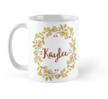 Kaylee lovely name and floral bouquet wreath Mug