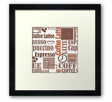 Texture of Coffee.Seamless Framed Print