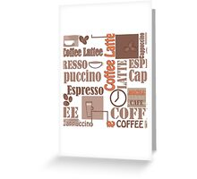 Texture of Coffee.Seamless Greeting Card