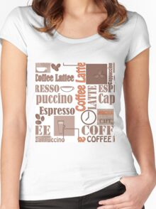 Texture of Coffee.Seamless Women's Fitted Scoop T-Shirt