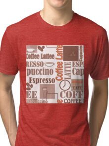 Texture of Coffee.Seamless Tri-blend T-Shirt