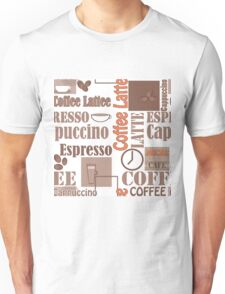 Texture of Coffee.Seamless Unisex T-Shirt