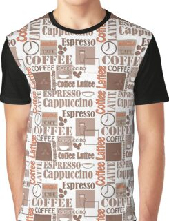Texture of Coffee.Seamless Graphic T-Shirt