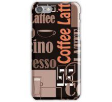 Texture of Coffee.Seamless iPhone Case/Skin