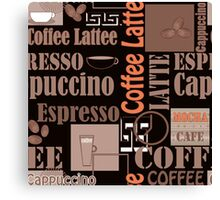 Texture of Coffee.Seamless Canvas Print