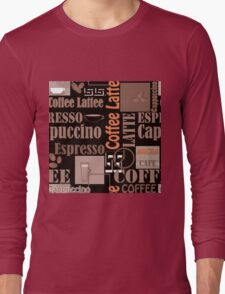 Texture of Coffee.Seamless Long Sleeve T-Shirt