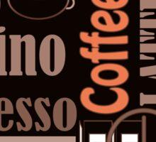 Texture of Coffee.Seamless Sticker