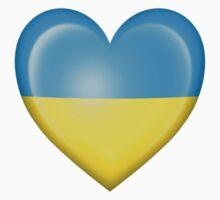 Ukrainian Heart Flag Kids Tee