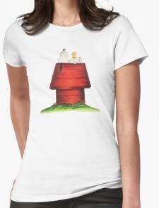 sleeping snoopy Womens Fitted T-Shirt