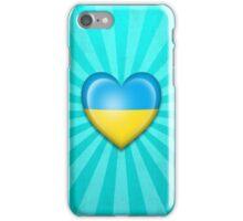 Ukrainian Heart Flag iPhone Case/Skin