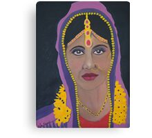 Indian Bride in Purple Canvas Print