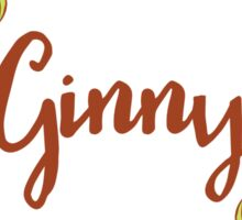 Ginny lovely name and floral bouquet wreath Sticker