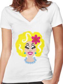 KAREN xoxo Women's Fitted V-Neck T-Shirt