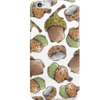 Seamless Pattern with Watercolor Acorns iPhone Case/Skin
