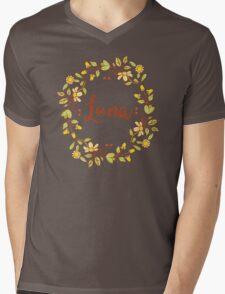 Luna lovely name and floral bouquet wreath Mens V-Neck T-Shirt