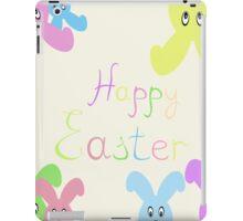 Happy Easter Easter bunnies,vector illustration iPad Case/Skin