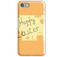 Easter Bunny with a basket on the background iPhone Case/Skin