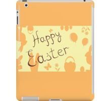 Easter Bunny with a basket on the background iPad Case/Skin