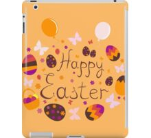 bright colorful Easter greeting card,vector illustration iPad Case/Skin