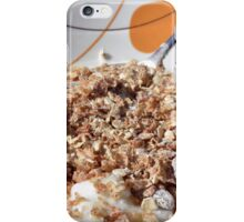 A bowl of cereals with yogurt. iPhone Case/Skin