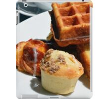 Plate with pastry sweets: cakes, waffle. iPad Case/Skin