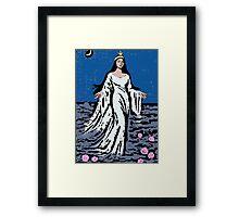 Yemanja the Orisha of the Sea Watercolour Framed Print