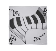 Piano and Notes Scarf