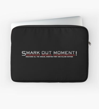 Smark Out Moment Logo (Silver) Laptop Sleeve