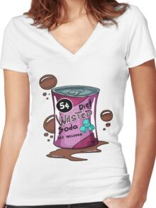 Wasted Soda Women's Fitted V-Neck T-Shirt