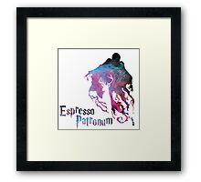 Espresso patronum parody Framed Print