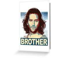 Lost - Desmond Brother Greeting Card