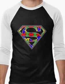 Autism Awareness Super Hero Shirt Men's Baseball ¾ T-Shirt