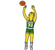 Larry Bird Dunk Photographic Print
