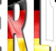 Berlin Word With Flag Texture Sticker