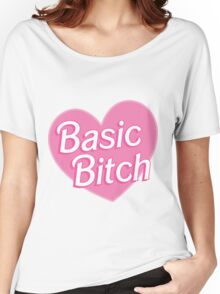 Basic Bitch Sky Blue Women's Relaxed Fit T-Shirt