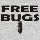 Bugs T-Shirt Insect Stickers Fun Free Hugs Comedy Tee by deanworld