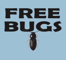 Bugs T-Shirt Insect Stickers Fun Free Hugs Comedy Tee Baby Tee