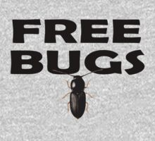 Bugs T-Shirt Insect Stickers Fun Free Hugs Comedy Tee One Piece - Long Sleeve
