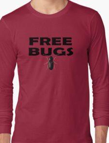 Bugs T-Shirt Insect Stickers Fun Free Hugs Comedy Tee Long Sleeve T-Shirt