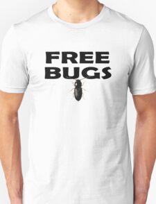 Bugs T-Shirt Insect Stickers Fun Free Hugs Comedy Tee T-Shirt