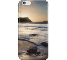 Sunset at Rhossili bay on the Gower peninsular iPhone Case/Skin