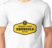 Proudly From Brussels Belgium Unisex T-Shirt