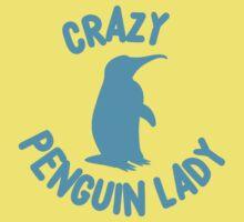 Crazy Penguin Lady (new circle) Baby Tee