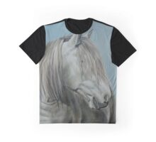 """Vega"" Trekking horse from La Vallée des Cerfs in France Graphic T-Shirt"