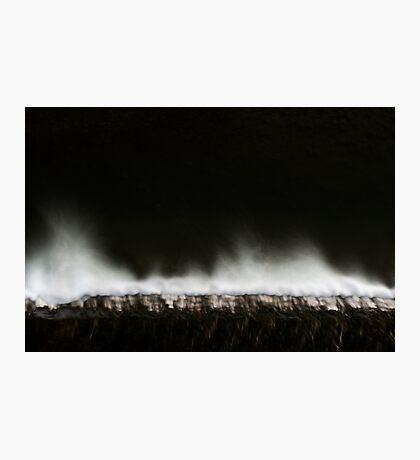 White and dark water Photographic Print