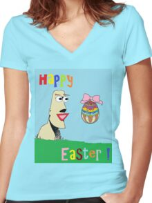 Happy Easter ! Women's Fitted V-Neck T-Shirt