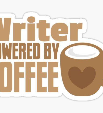 Writer powered by coffee Sticker
